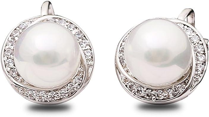 Orecchini con perle 12 mm in argento