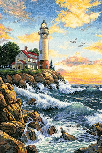 Gold Collection Rocky Point Counted Cross Stitch Kit-11x17 18 Count ()