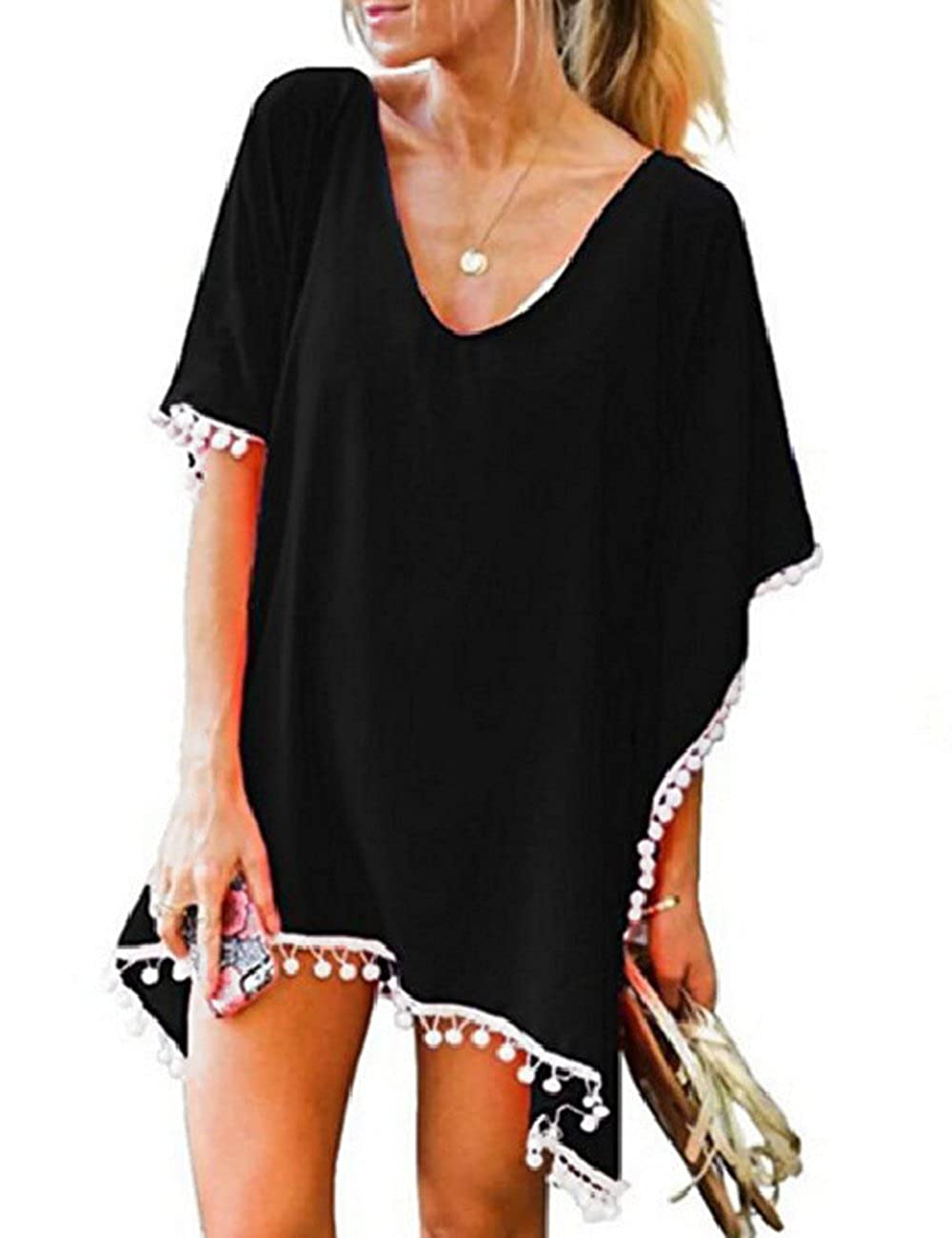 9ea751e8091d8 This beach cover up is just transparent enough to see cute suit underneath,  but gives great coverage and perfect length for you.