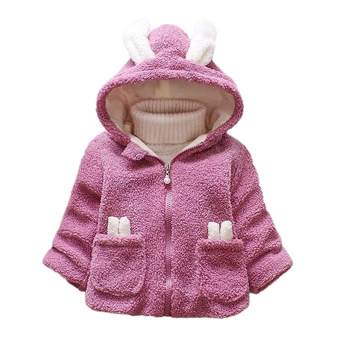 Amlaiworld Abrigos bebé niña, Abrigos con Capucha de Dibujos Animados Conejo Largo Oreja