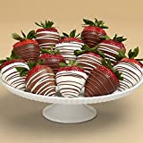 Shari's Berries - Full Dozen Gourmet Dipped Swizzled Strawberries - 12 Count - Gourmet Baked Good Gifts