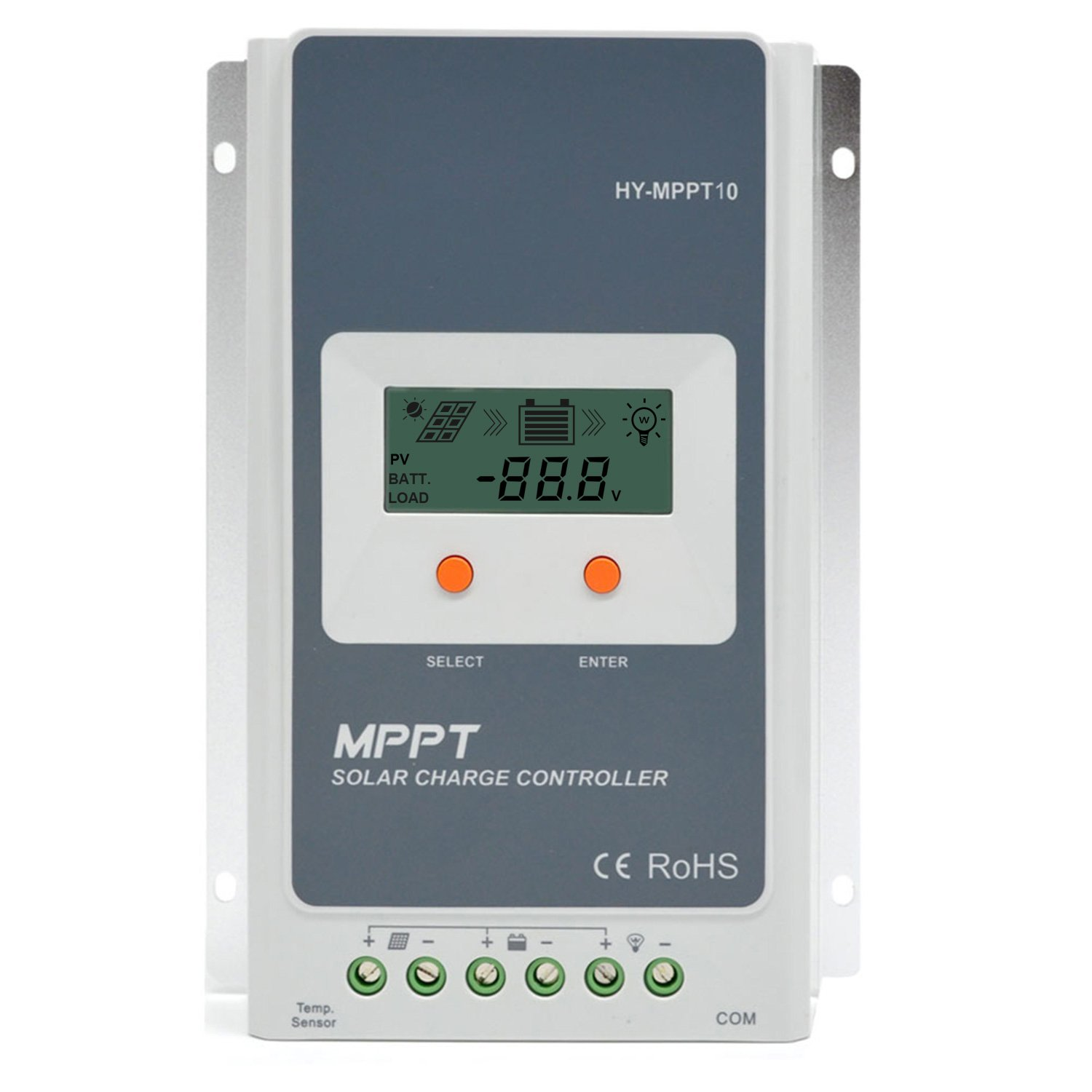ACOPOWER 10A MPPT Solar Charge Controller 100V input Tracer A Series 1210A With LCD Display Epsolar