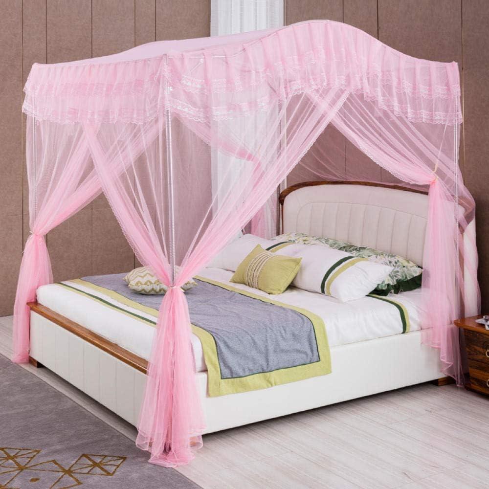 WUANNI Tente en Forme De D/ôMe Porte Simple Camping Moustiquaire,Support /épaissi cryptage Sol Rideau de lit Trois Portes moustiquaire-Beige/_120 200