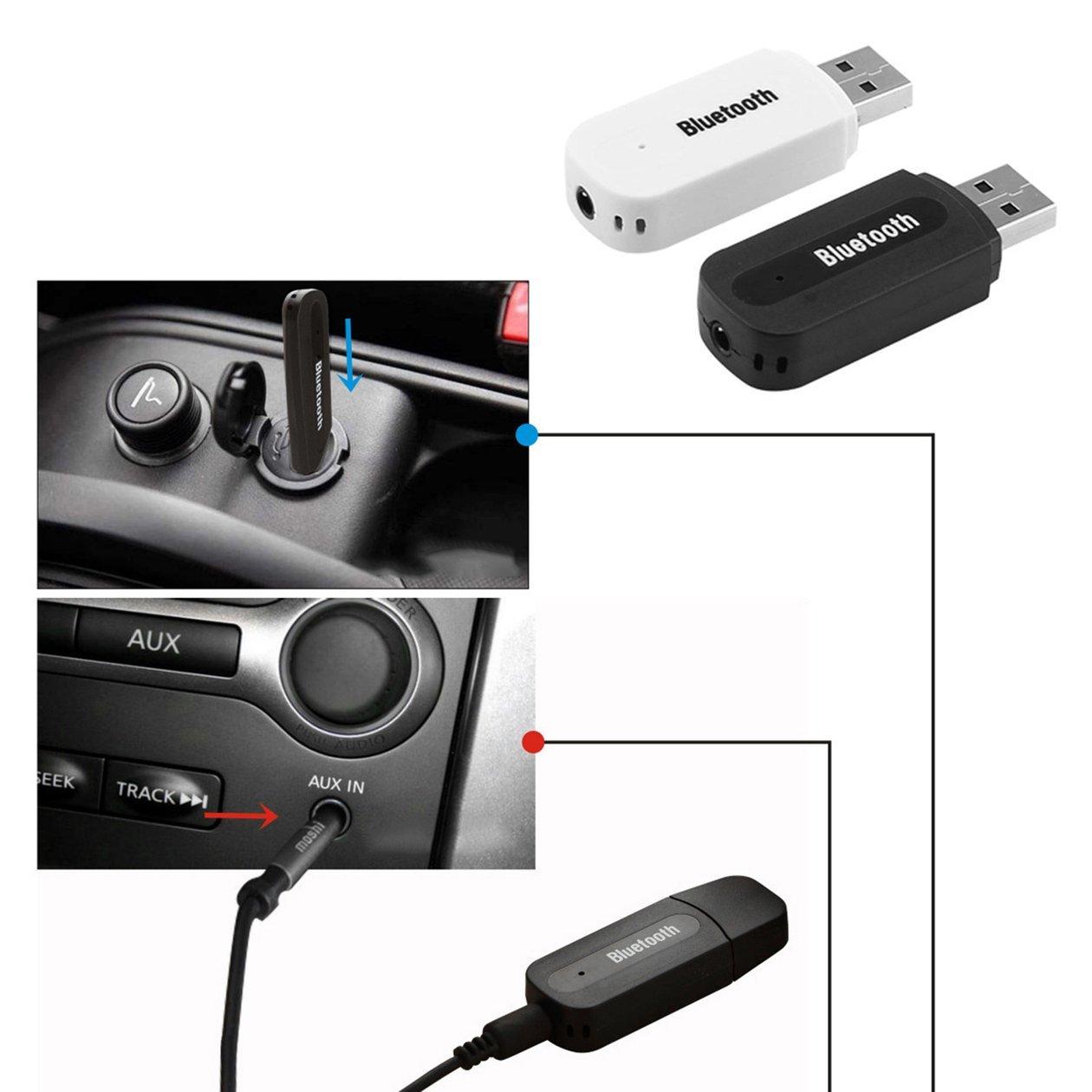 USB Car Bluetooth Adapter 3.5mm Jack Bluetooth Receiver Wireless Bluetooth AUX Audio MP3 Music Player Handsfree Car Tool