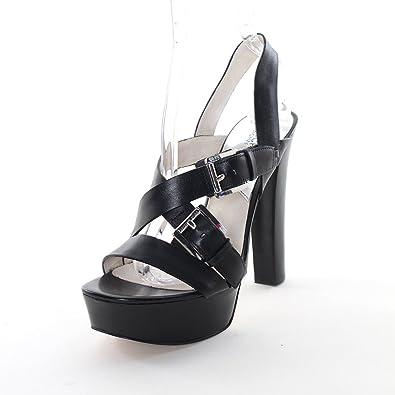 8c800afc2d06 Michael Michael Kors Women s Josephine Platform Sandal (9) Black