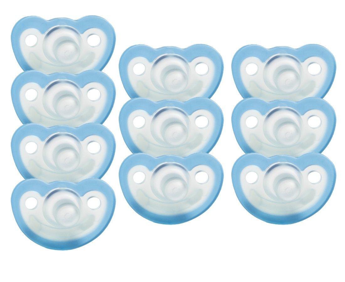Amazon.com: jollypop Chupete 10 Pack Sin Perfume, Azul: Baby