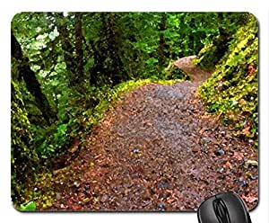 Forest Path Mouse Pad, Mousepad (Forests Mouse Pad, Watercolor style)