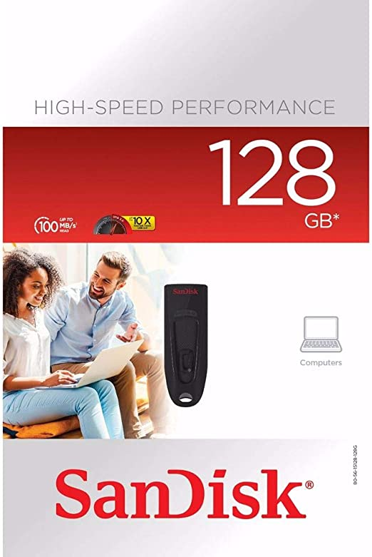 SanDisk Memoria Flash Ultra USB 3.0 de 128 GB, hasta 130 MB/s ...