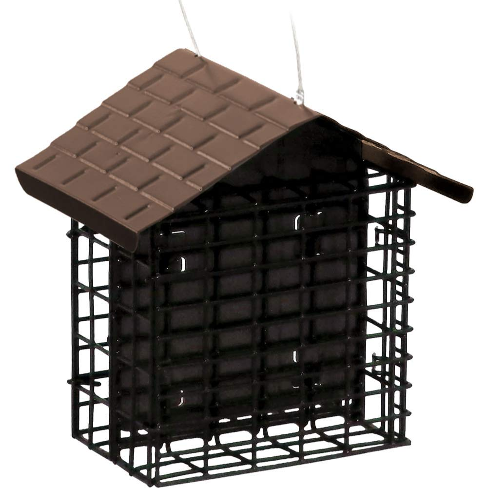 Stokes Select 38070 Capacity Double Bird Feeder with Metal Roof, Two Suet Capaci, 1-Pack, Black by Stokes Select