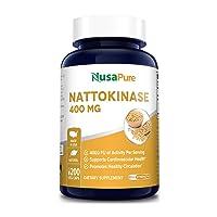 Nattokinase 4000 FU 200 Veggie Capsules (Non-GMO & Gluten Free) Supports Cardiovascular...