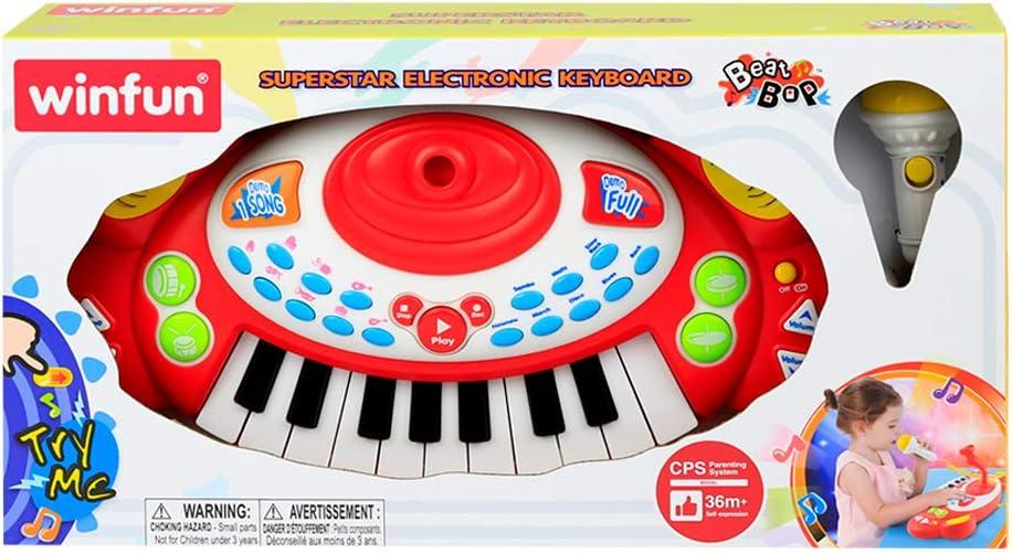 winfun - Piano electrónico con microfóno (46336): Amazon.es ...