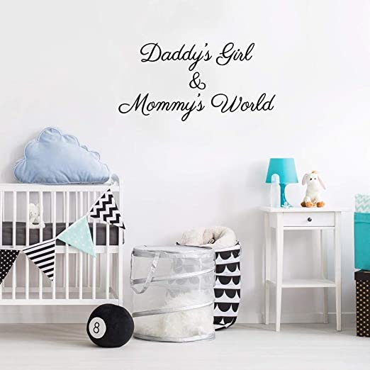 supmsds DaddyS Girl Mommys World Adhesivo de Pared Vinilo ...