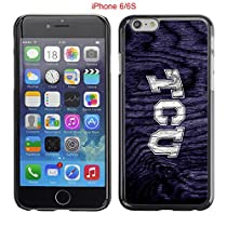 iPhone 6 6S Case,Tcu Horned Frogs Texas Christian 3 Drop Protection Never Fade Anti Slip Scratchproof Black Hard Plastic Case 4.7 inch