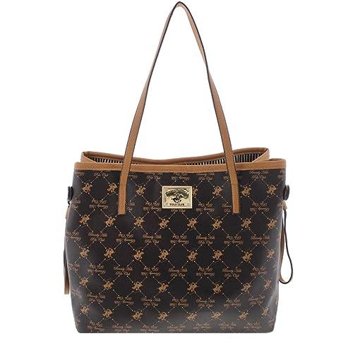 060fab9638 Beverly Hills Polo Club Womens Faux Leather Printed Tote Handbag   Amazon.ca  Shoes   Handbags