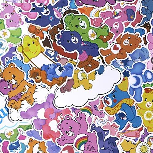 (53pcs Care Bears DIY PVC Waterproof Cartoon for Scrapbooking Album Luggage Skateboard Phone Wall Guitar Stickers)
