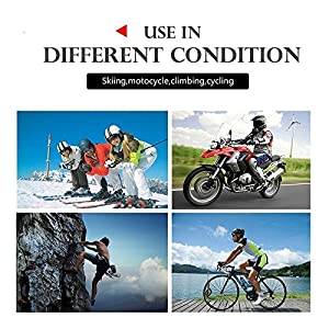 Motorcycle Helmet Bluetooth Intercom BT Multi Interphone Headset 1200M Bluetooth Motorbike Intercom Interphone Skiing Helmet Communication System Connect Up to 6 Riders-V6(Black)