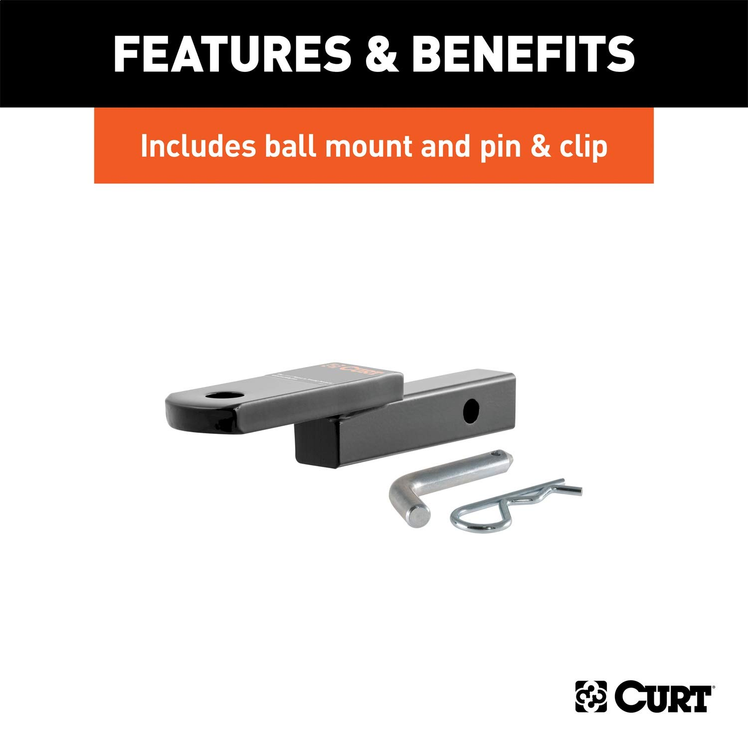 CURT 122653 Class 2 Trailer Hitch with Ball Mount Select Cadillac Seville 1-1//4-Inch Receiver