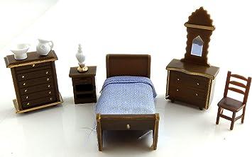 Melody Jane Maison de Poupées Miniature 1:48 Échelle Plastique Chambre Mobilier Ensemble Suite