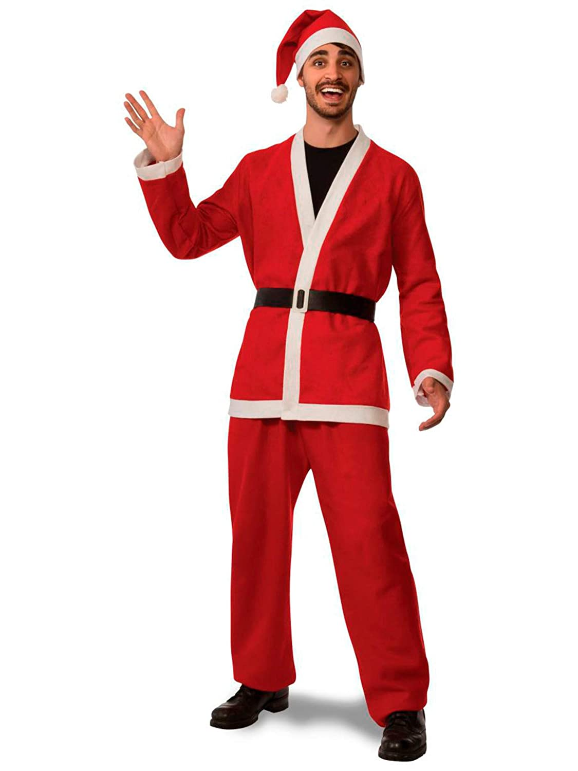 X-Large Rubies Costume Flannel Santa Suit Red//White