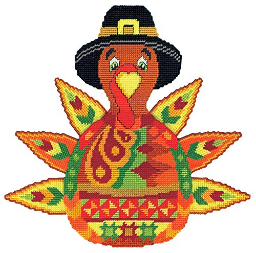 Thanksgiving Turkey - A Plastic Canvas Kit with Yarn