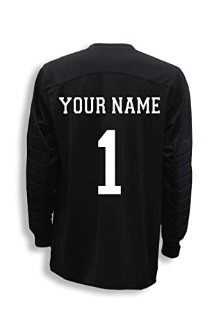 380cc66f2dc Diadora Enzo goalkeeper jersey personalized with your name and number -  Black - size Adult Small