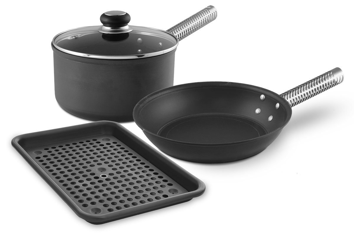 LloydPans Kitchenware 4-Piece Earth Day Cookware Set, USA Made, Non-Toxic PTFE-Free