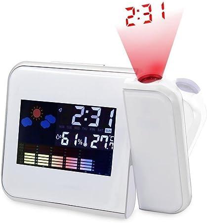 STRIR Reloj de proyección digital, Pantalla LED Alarma de ...