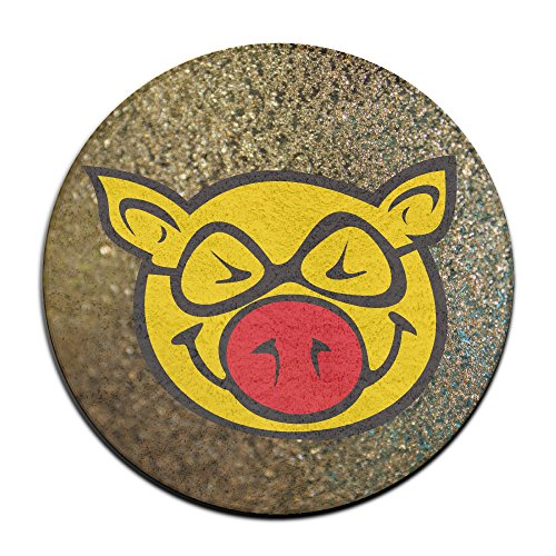 DonSir Yellow Pig Home Furnishing Round Bathroom Bedroom Floor NonSlip Mats (2)