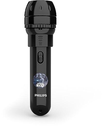 Philips Proyector y linterna 2 en 1 717889916, Negro