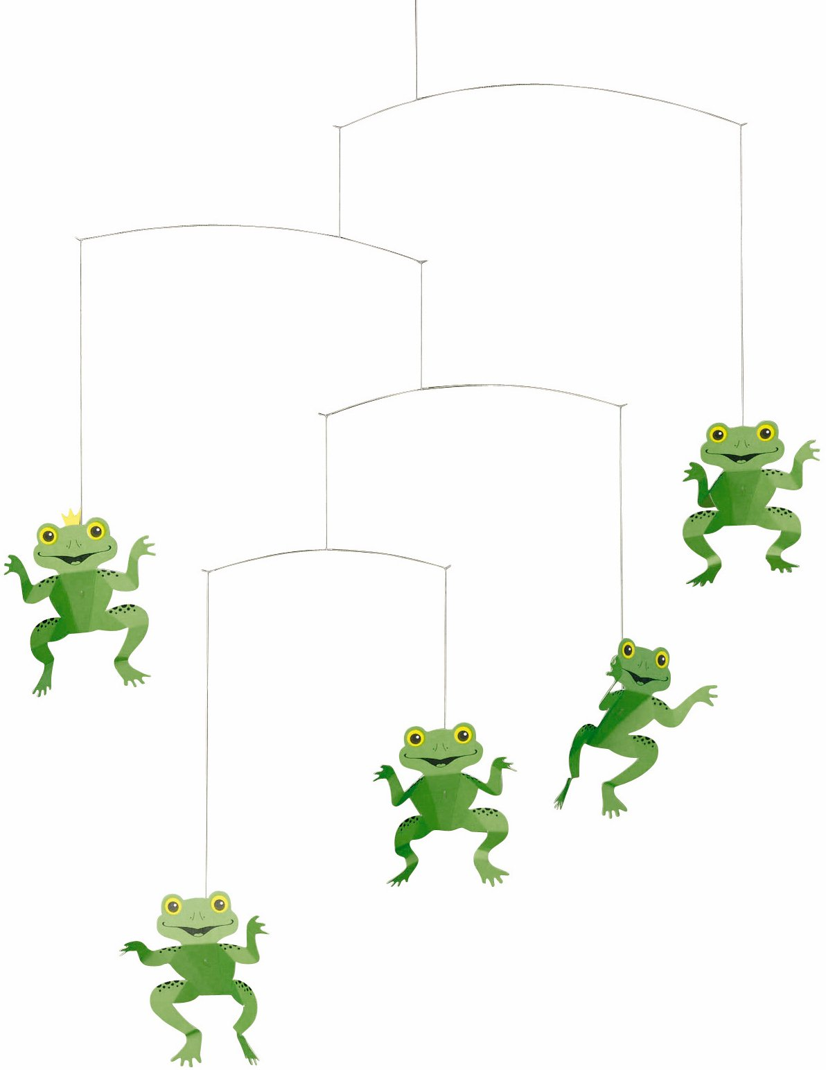 Flensted Mobiles Happy Frog Hanging Mobile - 22 Inches Cardboard