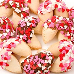 Heart Sprinkles Fortune Cookies - Set of 12
