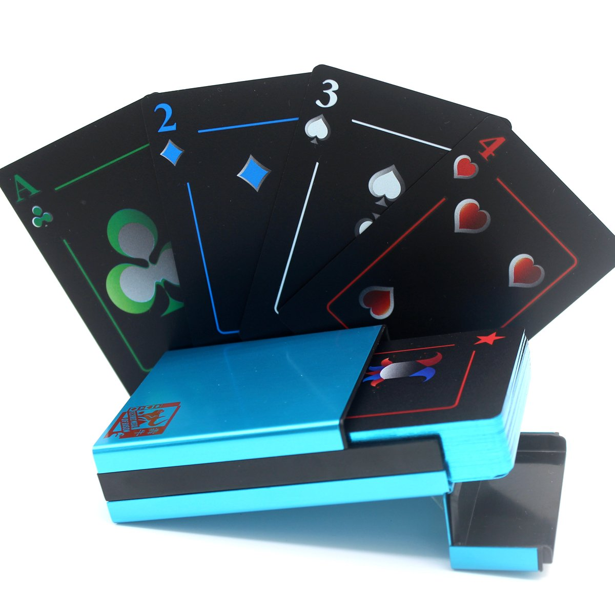BENNIU Aluminum Box Gilded edge Waterproof Playing Cards 100/% Plastic Poker