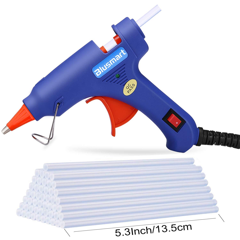 Blusmart Mini Pistola per colla a caldo con 25 Bastoncini di colla, 20-watt, Blu product image