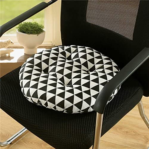 Chairs Cushion,Allywit Soft Chair Cushion Round Cushion Multi Pattern Home Fashions Outdoor Seat Back Chair Cushion Simple G