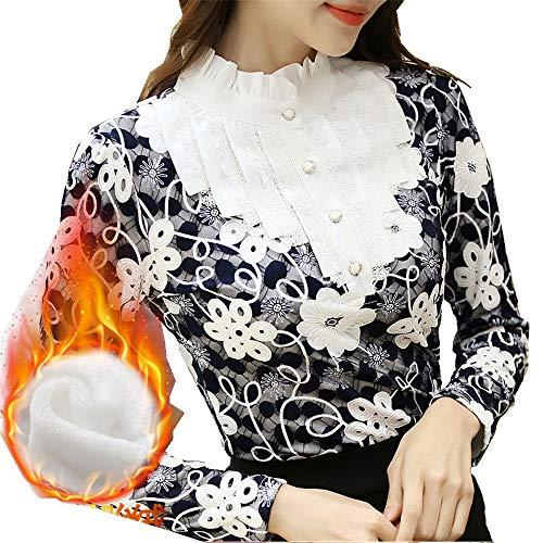 Maniche Donna Coste Con A Caldo Maglietta shirt Grandi Pizzo In Lunghe Velluto Bianco Dimensioni Tomaia Shirloy Più T 7WqEHxS