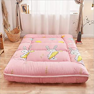 Traditional Japanese Quilting Futon mattresses, Thicken Tatami Mattress Foldable Floor mat, Four Seasons Available Mattress pad-B Twin