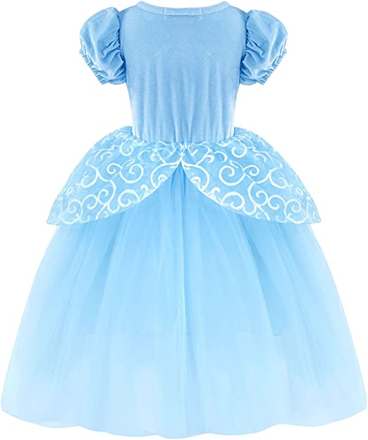 HenzWorld Cinderel Sofia Rapunzel Snow White Costume Little Mermaid Dress Princess Aurora Birthday Halloween Outfit
