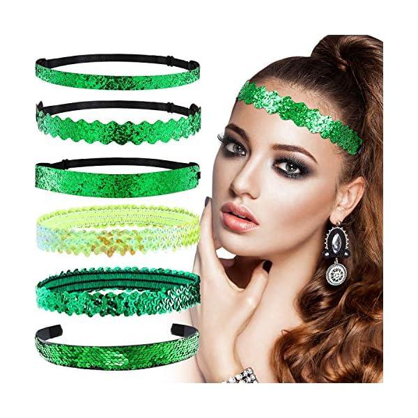 6 Pieces Irish Hairbands & Headbands