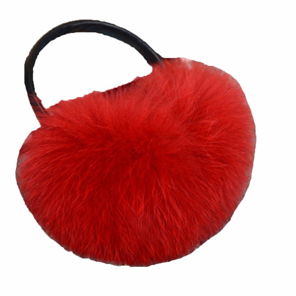 100% Real Fox Fur Winter Earmuff With Velvet