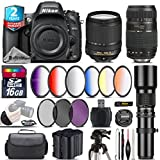 Holiday Saving Bundle for D610 DSLR Camera + 18-140mm VR Lens + Tamron 70-300mm Di LD Lens + 500mm Telephoto Lens + 6PC Graduated Color Filer Set + 2yr Extended Warranty - International Version