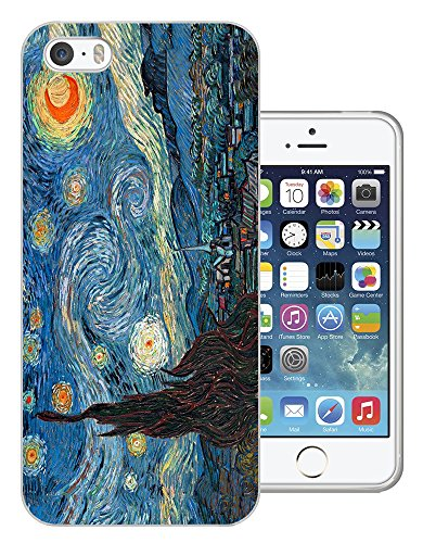 905 - Vincent Van Gogh Starry Night Design iphone 6 6S 4.7'' Fashion Trend Protecteur Coque Gel Rubber Silicone protection Case Coque