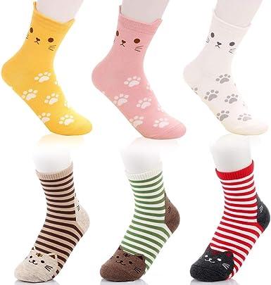 Calcetines Animales, Calcetines con Estampado de Gato Dos Tipos de ...