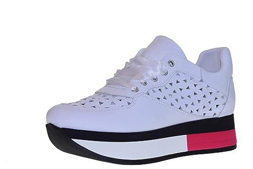 de calidad superior zapatillas de deporte para baratas patrones de moda FRAU Zapatos Mujer Zapatillas Bajas con Plataforma 55C5 ...