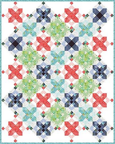 One Canoe Two Hazelwood Snowflakes Quilt Kit Moda Fabrics KIT36010 by Moda Fabrics