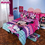 Disney Minnie Fashion 9 piece Reversible Comforter Set Queen