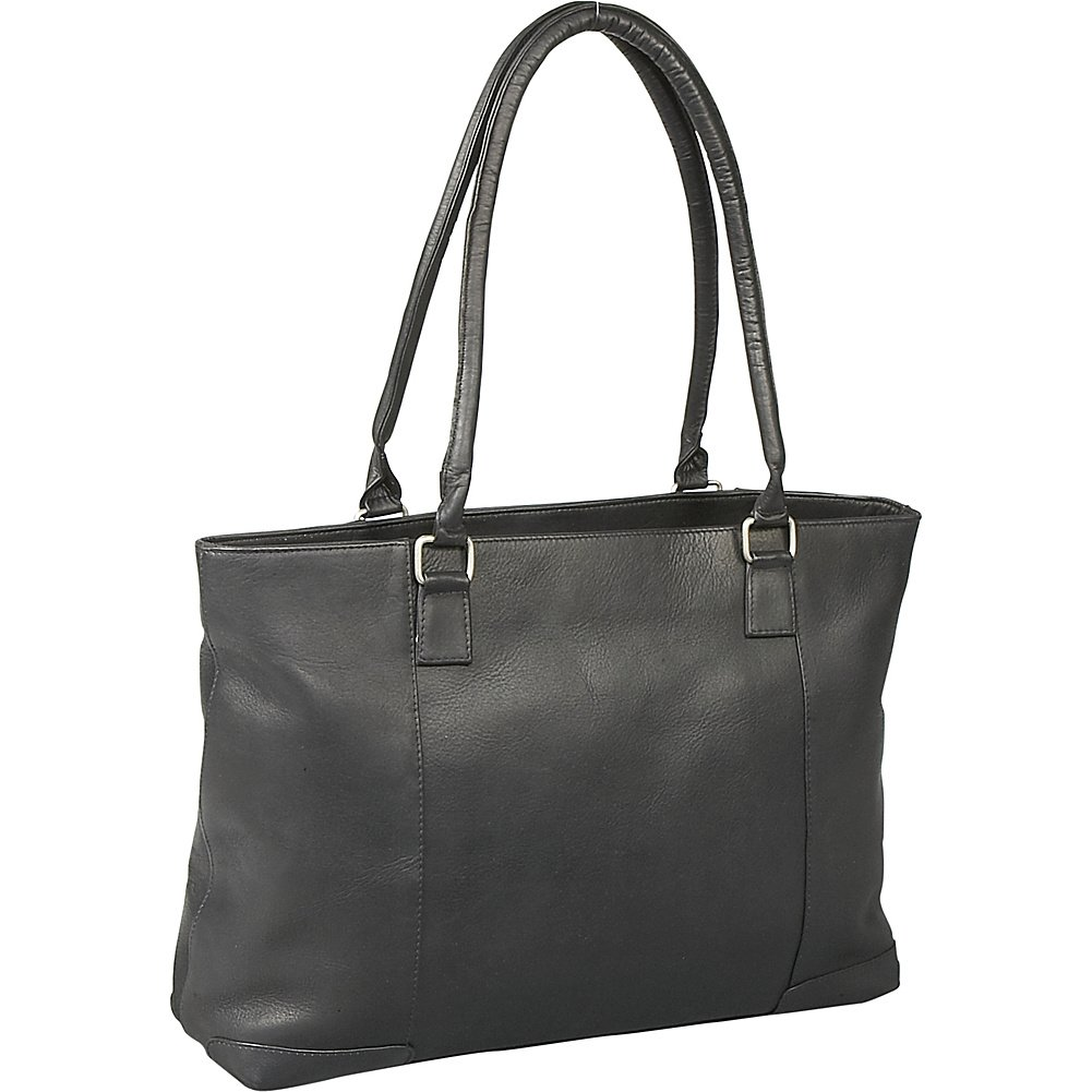 Le Donne Leather Women's Laptop/Handbag Brief (Black) by LeDonne
