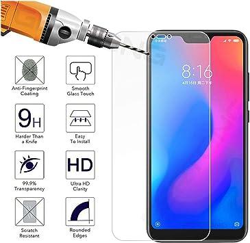 LZHANDA Protectores de Pantalla Tempered Glass For Redmi Note 6 5 Pro 5 Plus 6A Mi 8 A2 Lite A1 Mi6x Mi8 Transparent Screen Protector Toughened Film For Xiaomi Mi A1: Amazon.es: Electrónica