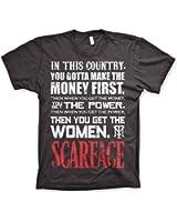 Offizielles Lizenzprodukt Scarface You Gotta Make The Money First T-Shirt (Dunkelgrau)
