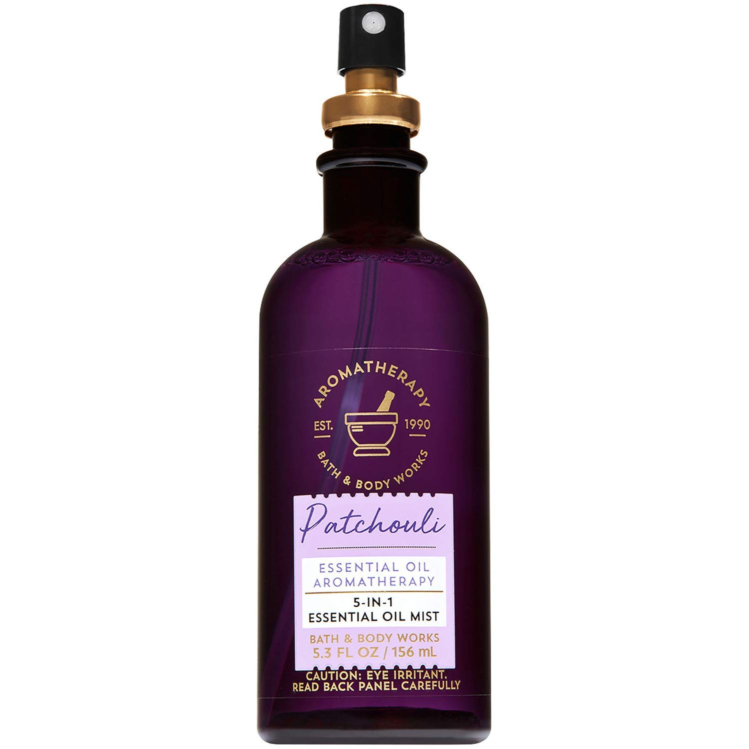 Bath and Body Works Aromatherapy Patchouli 5-in-1 Essential Oil Mist (Alcohol-Free) 5.3 Fluid Ounce by Bath & Body Works