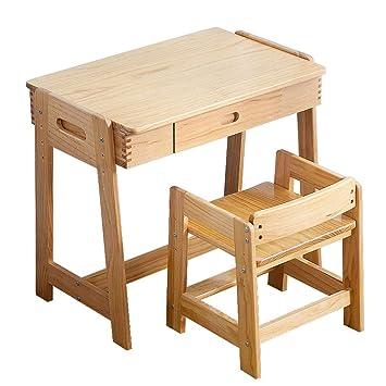 Schultisch mit stuhl  Amazon.de: SjYsXm-Tische Esstisch Kinder Schultisch Höhenverstellbar ...